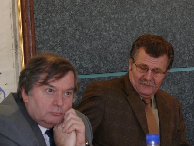 Dr. Szabó Zoltán és Muhari Pál elnökségi tag
